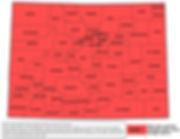 Colorado counties radon zone map