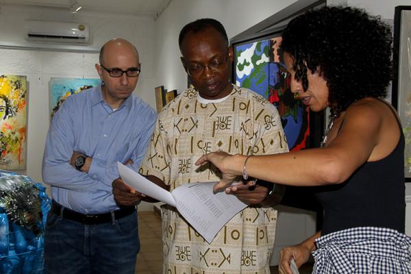 Visita do representante do Banco Mundial