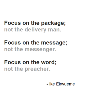 Focus on the Message.