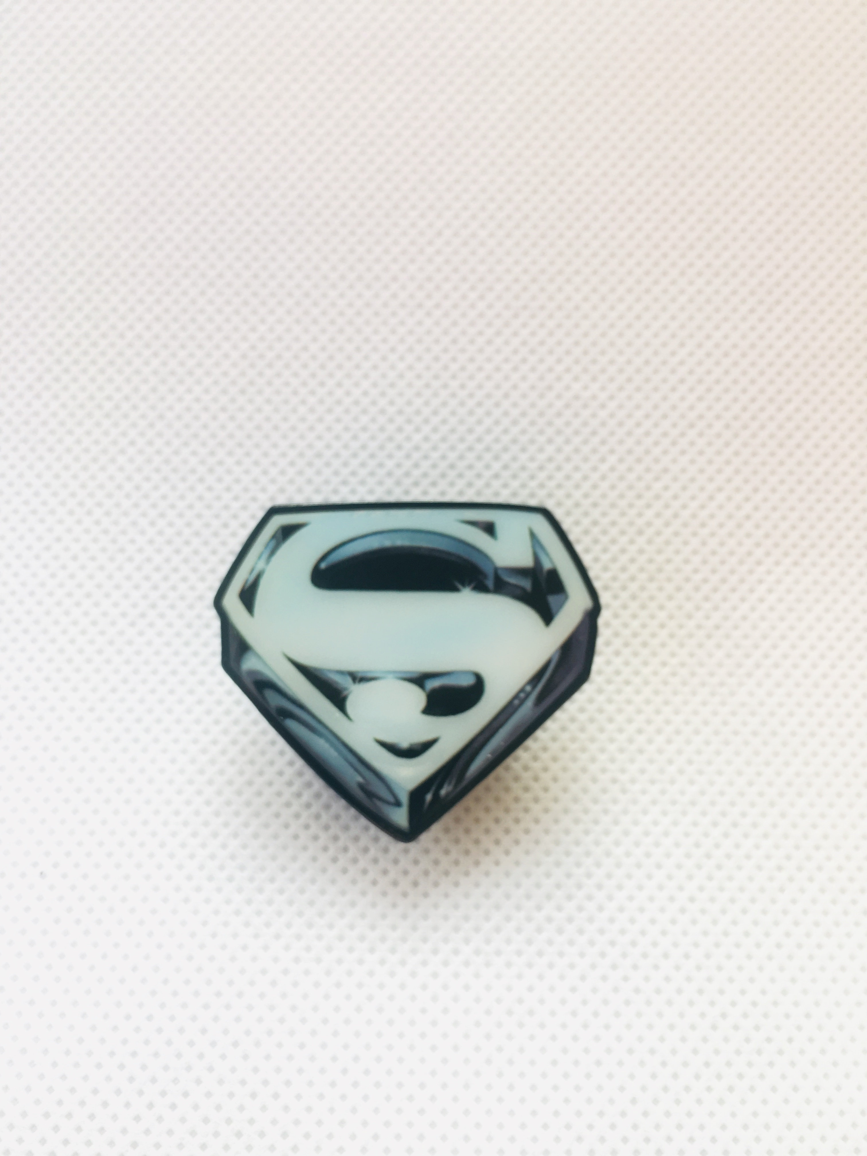 Superman The Movie Promotional Logo Pin | capedjusticejewelry