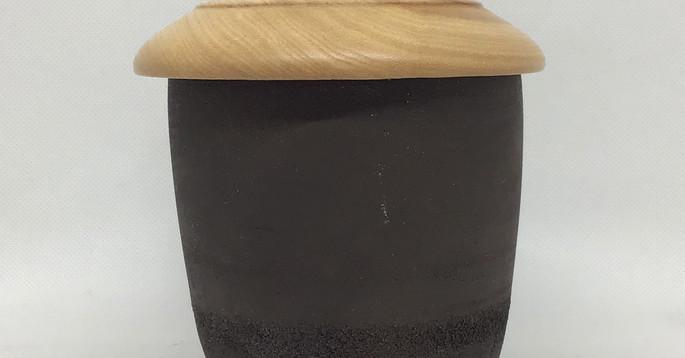 grès noir couvercle frene olivier