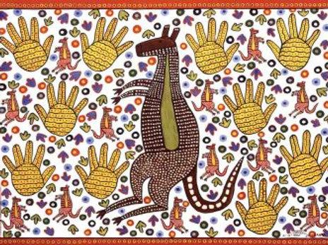Kangaroo Koori Artwork Size A3