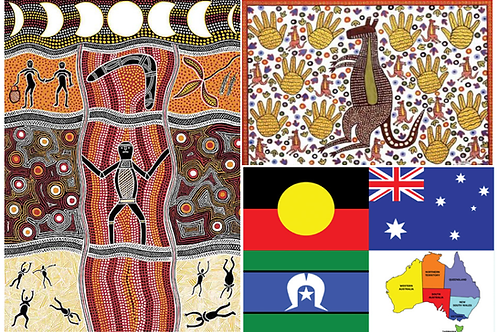 Our Country, Kangaroo & How the Rainbow Moon and Stars Were Created Set of 3