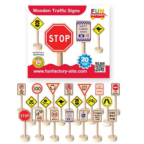 Traffic Signs 20 Pc