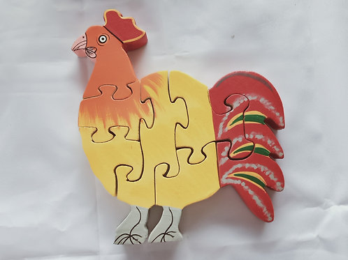 7 pc Chunky Rooster Puzzle