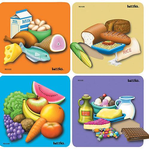 Good Food 4 Raised Puzzle set