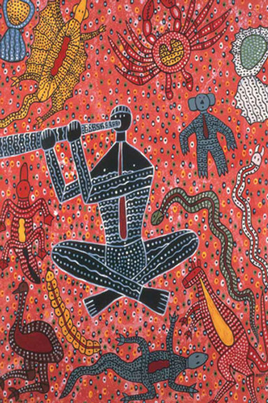 Didgeridoo Man Koori Artwork Size A3