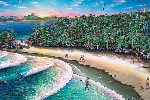 A3 Size - The Pass At Byron Bay Puzzle 24 Pc