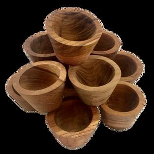 Small 12 Natural Wooden Bowls