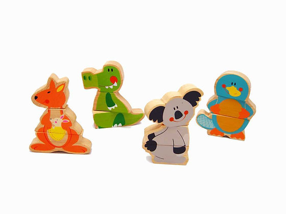 Aussie Bunch Magnetic Animals