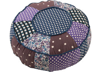 Colourful Fabric Pouf – 40cm