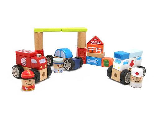 Emergency Vehicle Blocks-42 pcs