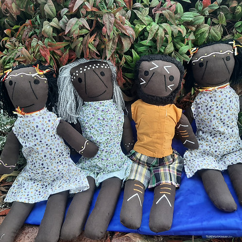 Set of 4 Aboriginal Dolls