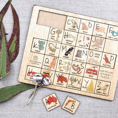 Australian Alphabet Puzzle