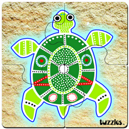 Aboriginal Art 4 Piece Puzzle Set