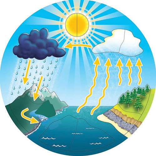 Raised Water cycle puzzle