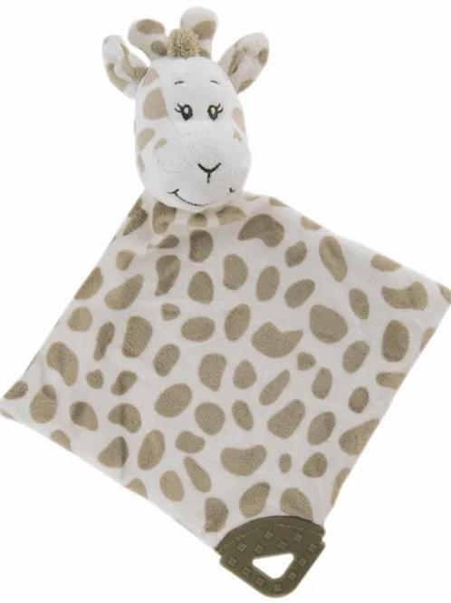 Baby Comforter with Teething Bar Safari Animals