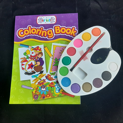 Water Colouring Book Paint Set