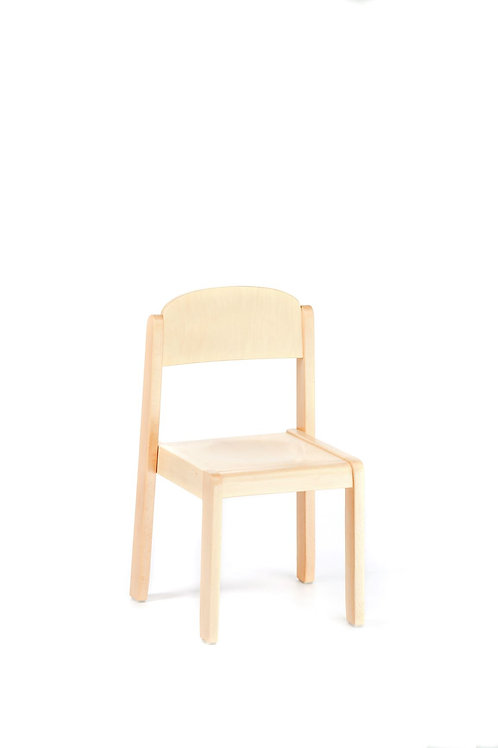 Natural Wooden Chair Delux Preschool Size:27.5 X 25 cm - 26 cm Height.