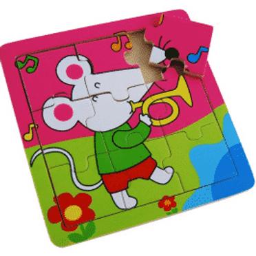 9 Pc Animal Puzzle