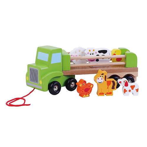 Pull Along Farm Truck with Animals