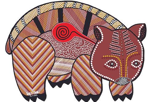 Aboriginal Wombat wooden Floor Puzzle