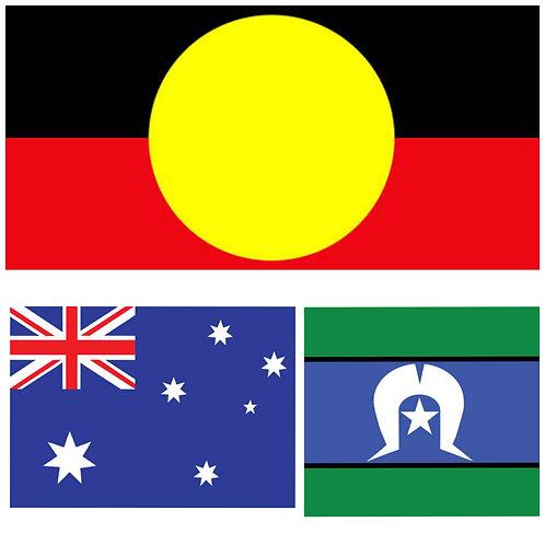 A4 Size - Set Of 3 - 12 pc Australian Flag Puzzles