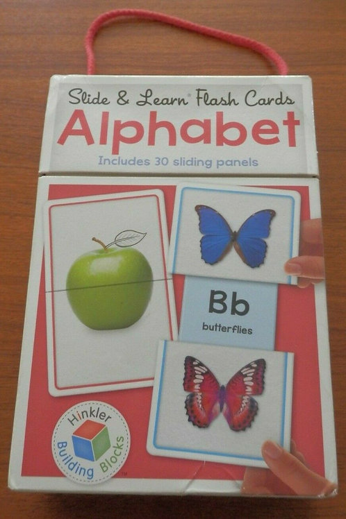 Slide & Learn Flash Cards ALPHABET includes 30 sliding panels