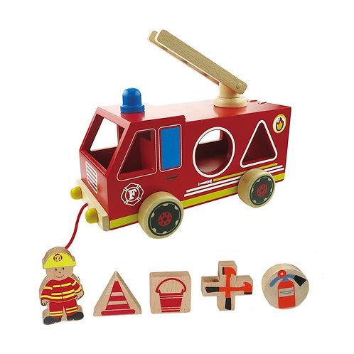 Fire Truck Shape Sorter