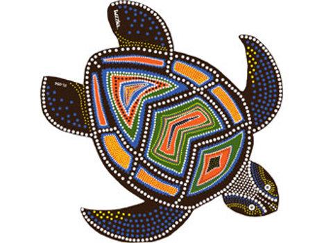 Aboriginal Artwork Turtle Floor Puzzle Made in Australia