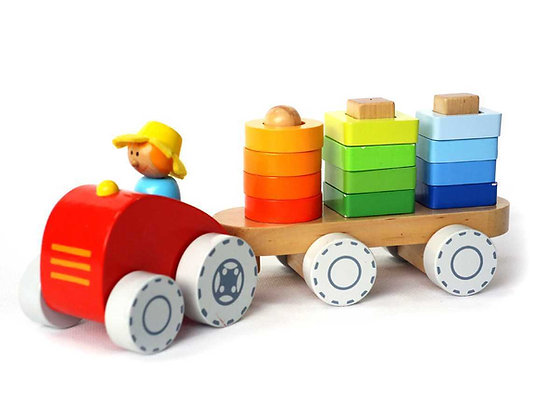 Farm Tractor with Stacking Shapes