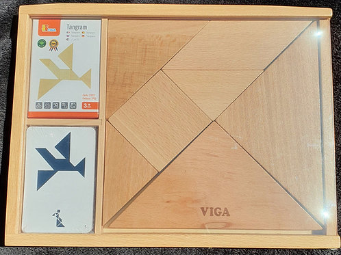 Wooden TANGRAM Puzzle SET BRAINTEASER Game