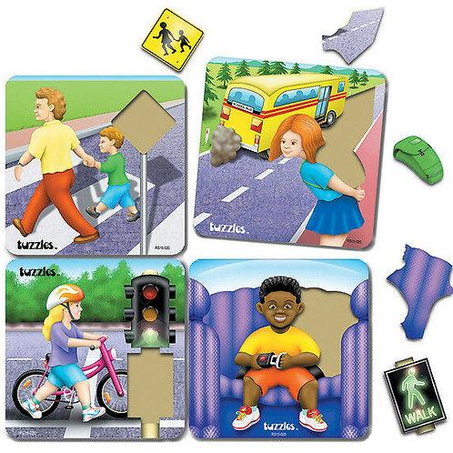 Road Safety Raised Puzzle Set 4