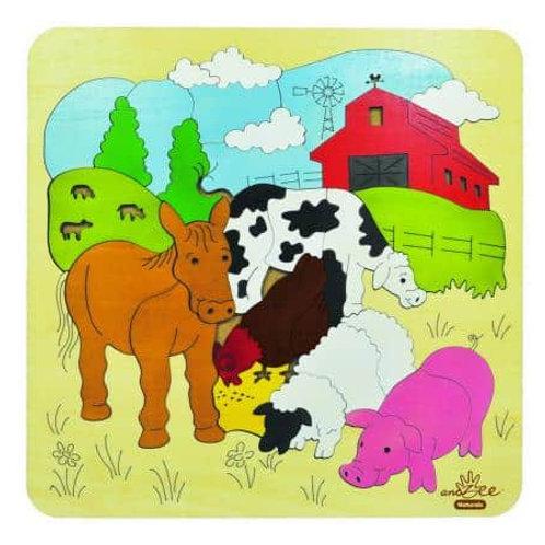 Farm Scene Puzzle - AndZee