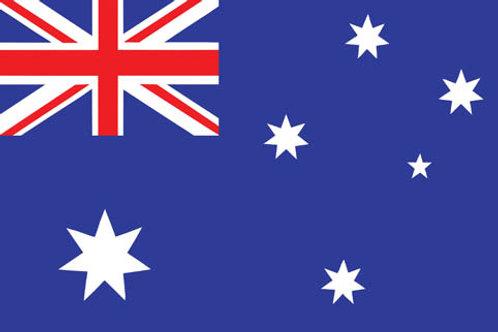 A4 Size Australian Flag Puzzle 12pc