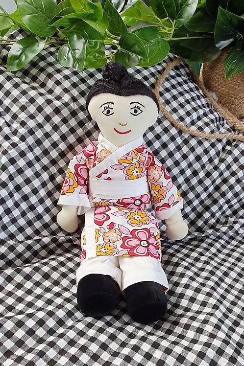 Japanese Doll in Bun - Kana