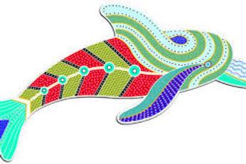 Aboriginal Art - Dolphin Wooden Puzzle