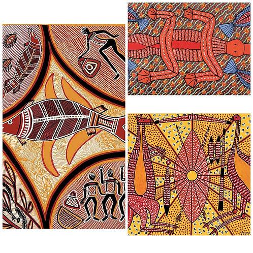 Set of 3 Koori Artwork Puzzles 12 - 24 Pc