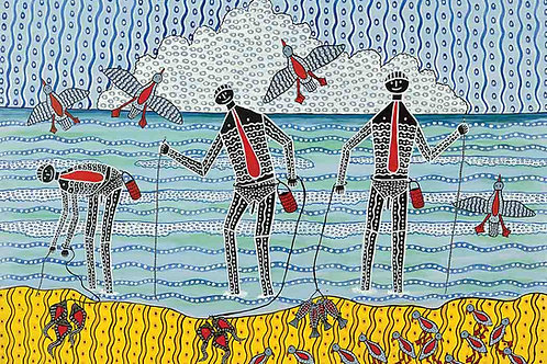 Worm Catchers Koori Artwork Size A3