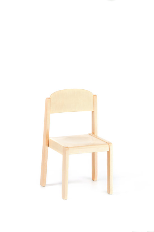 Natural Wooden Chair Delux Toddler Size:  27.5 X 25 cm - 22 cm Height.