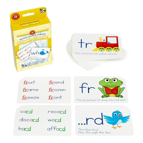Blending Consonants & Digraphs Flash Cards