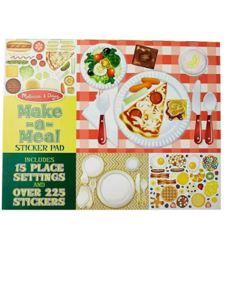 Melissa and Doug Sticker Pad - Make-A-Meal with 225 + Stickers
