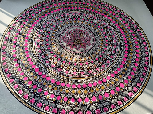 Lotus Mandala original Painting unframed