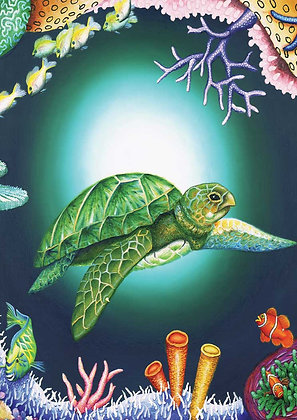 A3 Size - Peace Turtle Puzzle - 12-204 Pc