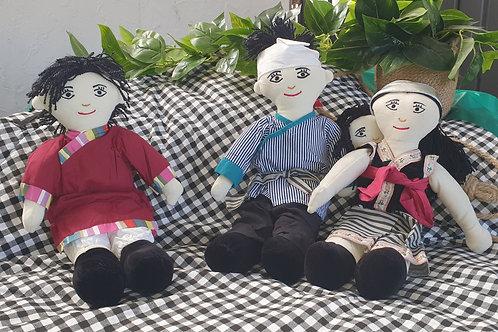 Tibetan Family Doll Set