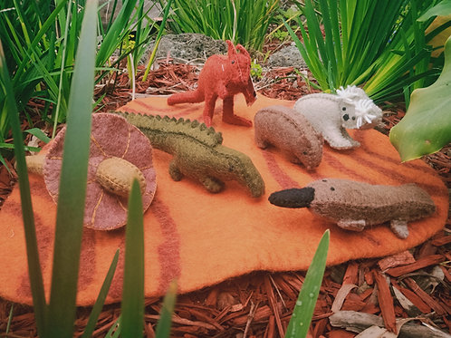 PAPOOSE - Australian Animals+ Outback Mat - Set of 7