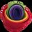 Thumbnail: 100% Pure wool Rainbow Nesting Bowls