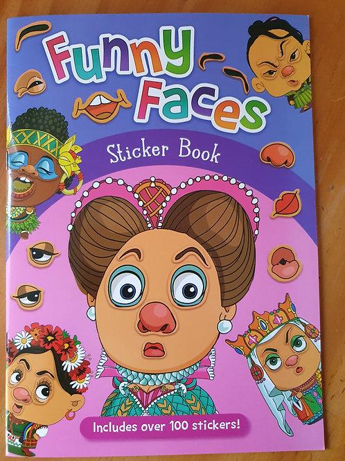 Funny Face Sticker Book