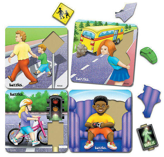 Road Safety Raised Puzzle Set 4