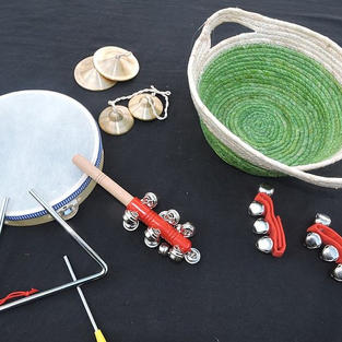 8 Piece Instruments Set with basket